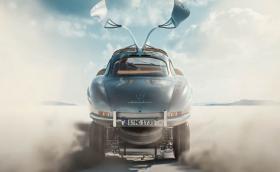 Купето на Mercedes-Benz 300 SL Gullwing каца на шасито си в кратък филм