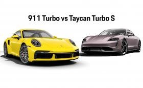 Porsche 911 Turbo или Taycan Turbo S? И двете струват около 370 хил. лв.
