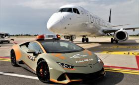 Lambo пак осигури суперкола за летището в Болоня