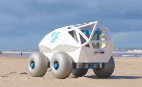 Автономна количка намира къде сте си заровили фаса на плажа!