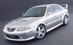 Mazda 626 MPS туин турбо V6 е забравена концепция с двойно задвижване, вдигаща 100 за под 6 секунди