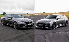 BMW M5 CS срещу АBT RS6-R на драг! Кой кого? Видео!