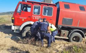 Германски кемпер пожарна закъса на Алепу, арестуват водача два пъти