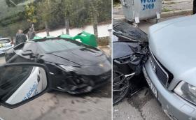 Lamborghini Huracan блъсна Audi в София ( допълнена )