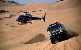 "Летящ камион удари хеликоптер на ""Дакар"". Сериозно!"