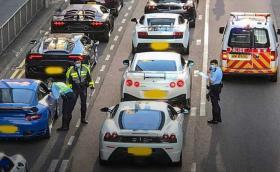 Полицията в Хонконг спря 45 суперколи накуп! (Видео)