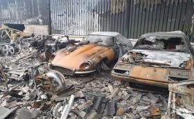 Над 80 суперколи са изгорели в пожар в Англия