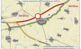 """Напълно затварят """"Тракия"""" от 168 до 184 км заради ремонта между Чирпан и Стара Загора"""
