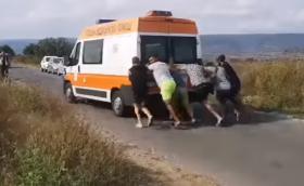 Бутат линейка, за да запали и да откара пострадали (Видео)