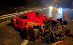 Тежка катастрофа с българска суперкола SIN R1 в Чехия