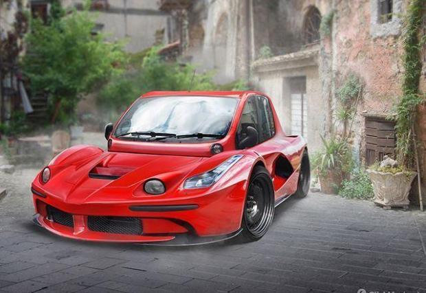 LaFerrari и Fiat Multipla