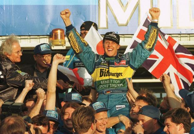 22 октомври 1995. Втората титла с Benetton