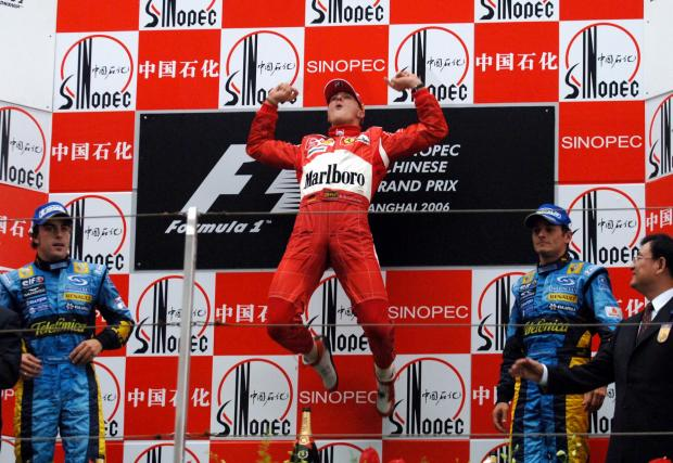 Запазената марка след поредната победа - 2006 в Китай