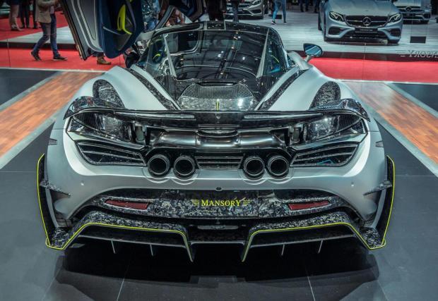 """Mansory McLaren 720S. Колата е с 45 коня по-мощна и няколко пъти по-нескромна. """"Едроструктурният"""" карбон става все по-популярен."""