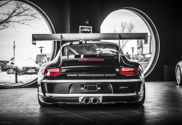Брутално ефективно: 997 GT3 Cup 3.8, което е базирано на GT3 RS.