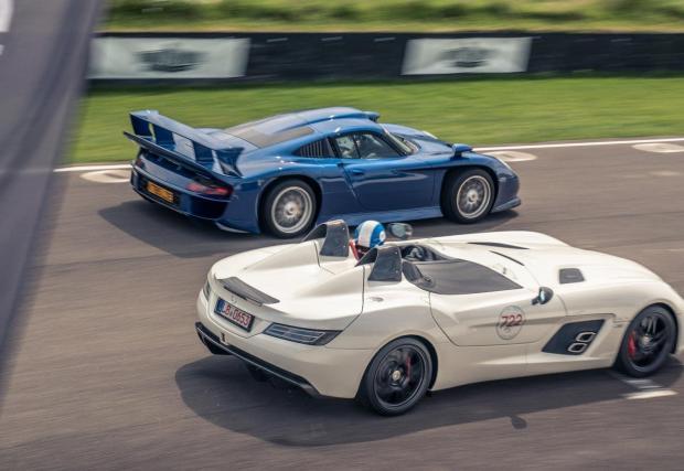 Mercedes CLK GTR и Porsche GT1
