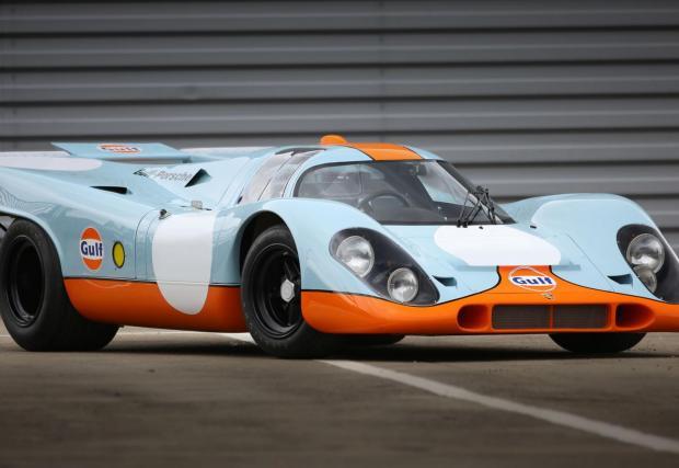 1. Porsche 917K: Героят от Льо Ман дължи популярността си и на Стив Маккуин. В момента струва 14 080 000 долара. Първият V12 на Porsche и невероятната аеродинамика позволяват достигане на над 350 км/ч на дългата права по време на Льо Ман.