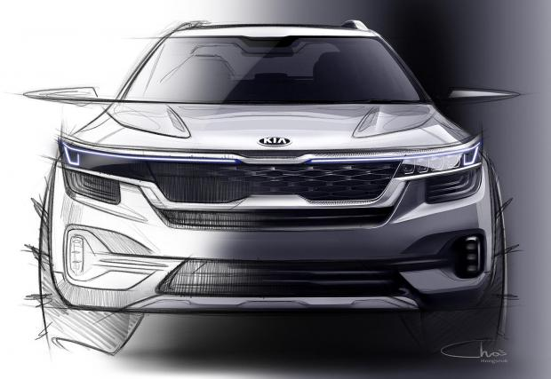 Първите две скици на новия малък SUV на Kia