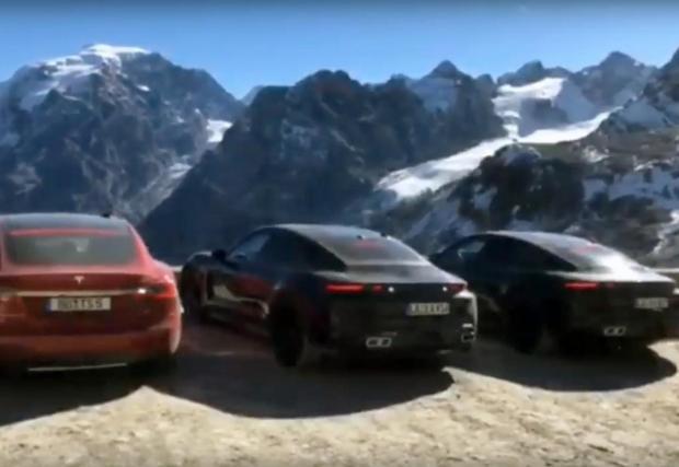 Инженерите на Porsche използваха Tesla Model S по време на тестовете на Taycan