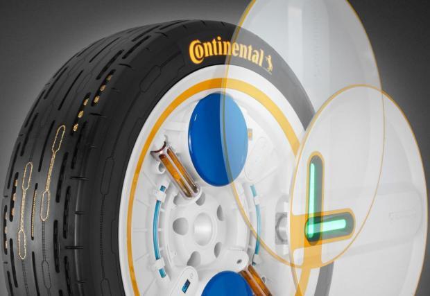 Новите гуми на Continental използват центробежните сили от въртенето си, за да работи малка помпа