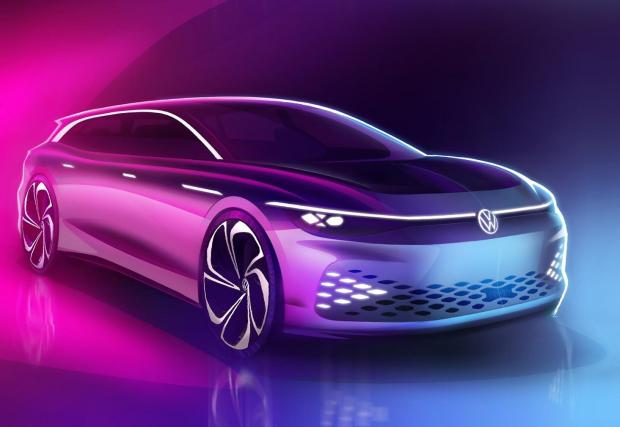 Шест скици на VW ID Space Vizzion