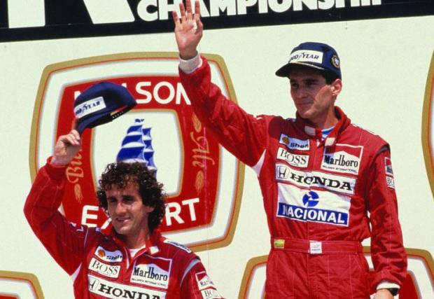 Сена и Прост на почетната стълбичка: Гран при на Канада, 1988
