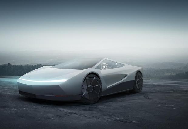 Суперкола на базата на Tesla Cybertruck - всъщност не изглежда зле
