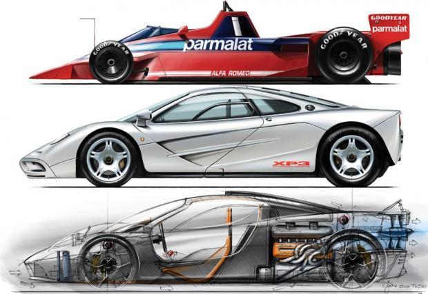 Идеята за перката идва от F1 през 70-те. Мъри разработва легендарния McLaren F1, който всеки автомобилен фен уважава.