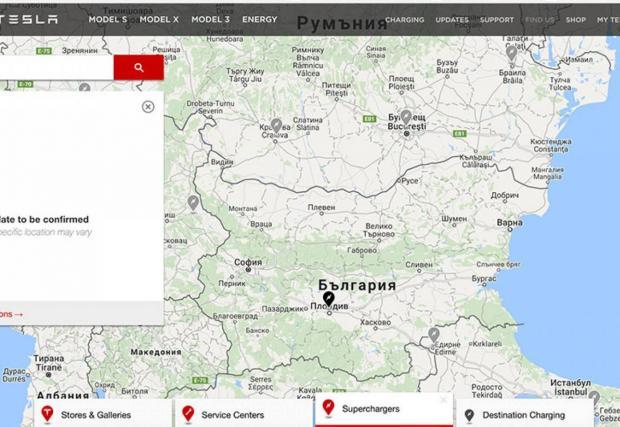 България е на картата със суперзарядни станции на Tesla от четири години