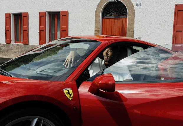 Коби по време на посещението си в Маранело преди три години