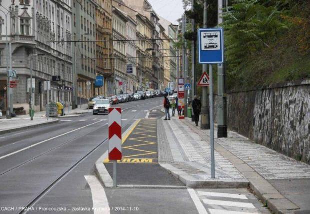 Виенският тип спирка се използва в много градове в Европа. В случая: Прага