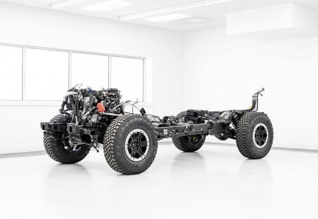 Платформата на Ranger е идеална за 35-инчовите гуми на Bronco