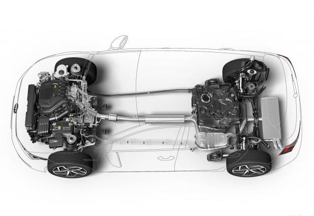 И на техническата скица няма нищо, за разлика от тази на Audi.