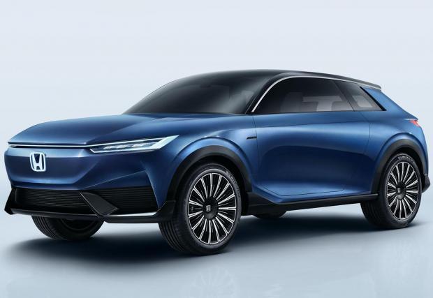 Три снимки на обещаващо синя Honda