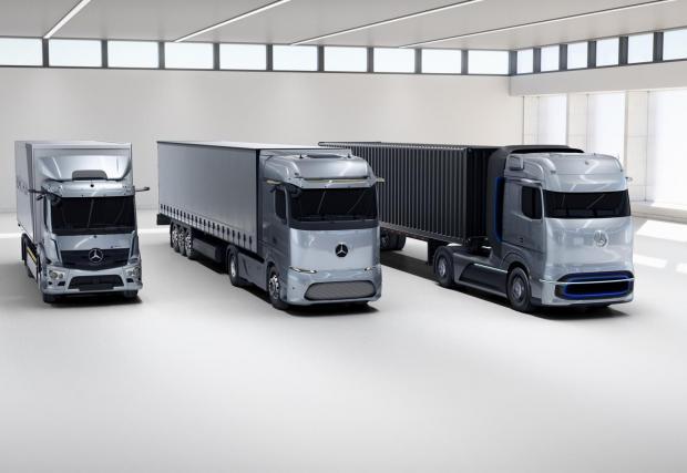 Галерия с десет снимки на новите камиони на Mercedes