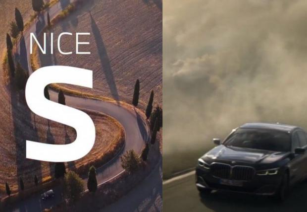 Кадър от краткото видео и още два закачки между Mercedes и BMW в галерията
