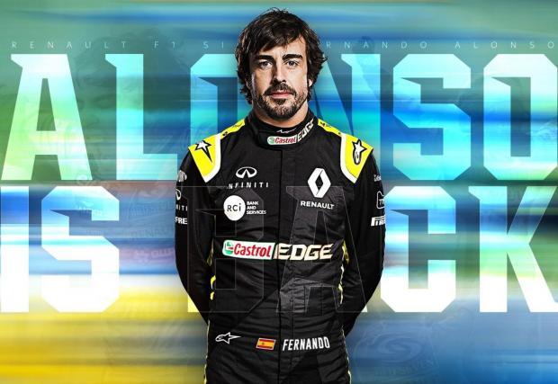 Фернандо Алонсо се връща в спорта с Alpine-Renault
