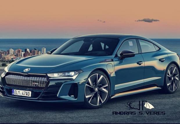 Симпатяга е, признайте! Нататък в галерията са снимките на e-tron GT на Audi