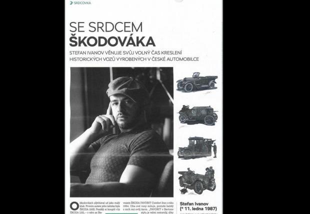 В Чехия работата му по старите модели на Skoda се цени особено високо