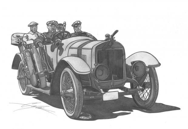 Laurin & Klement Typ Mh, 1912 .Това е специално изработен автомобил в три екземпляра, който взема участие в легендарната Алпийска надпревара. Алпийската надпревара се провежда от 1910 до 1914, като L&K печели и петте състезания.