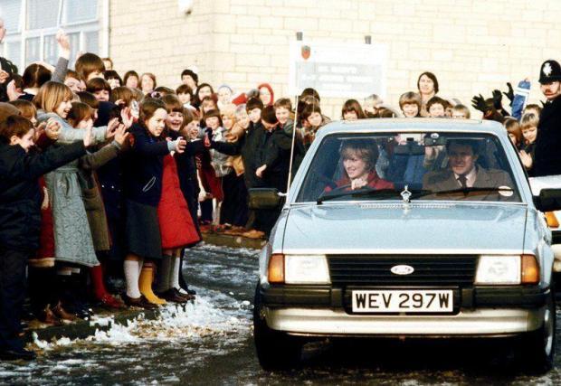Принцесата на Уелс кара колата през декември 1981. Снимка: Getty Images