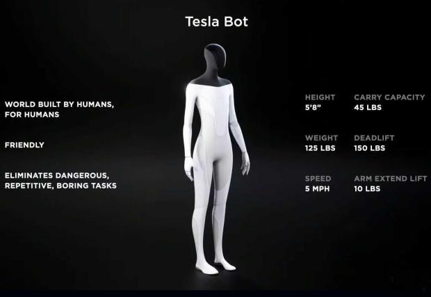 Галерия от 3 изображения на Tesla Bot