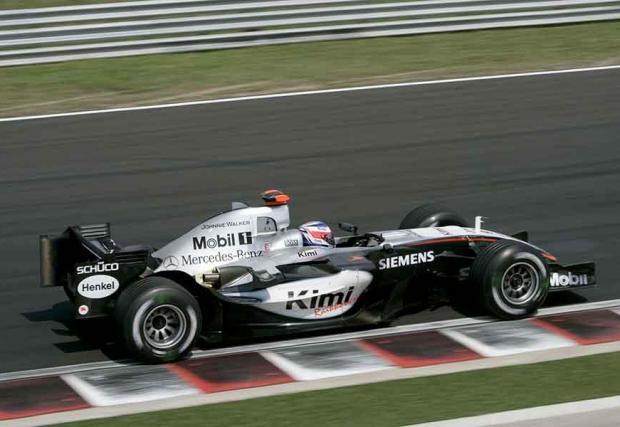 3. Три епохи, в които Кими се е състезавал – на двигателите V10, V8 и V6.