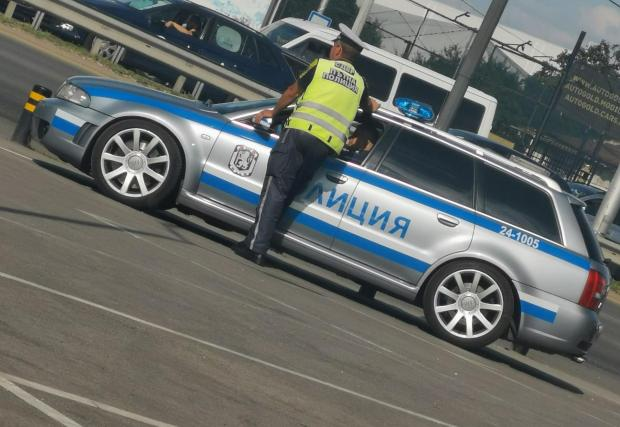 КАТ София вече ползва като патрулка мощното 381 к.с. Audi RS4 (Снимка: Иван Соршилов)