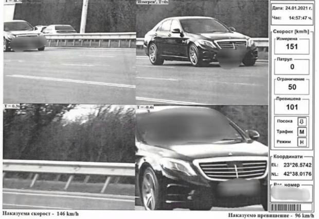 Галерия от 3 снимки с нарушители на скорост в София