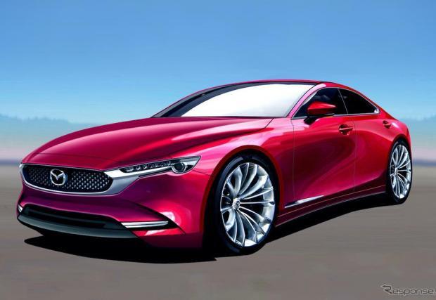Рендър на модела и няколко снимки на Mazda Vision Coupe Concept от 2017-та.