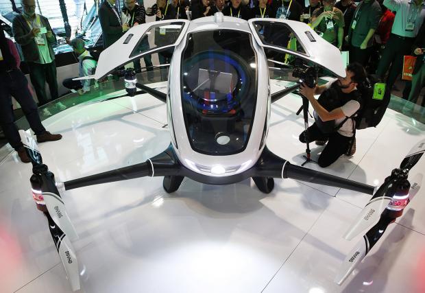 Тази футуристична пералня всъщност е първият дрон, който може да качи... човек. И да, китайски е. Видео и галерия