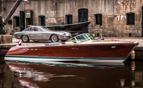 Riva Aquarama е била на Феручо Ламборгини. Сега е с два 5,5-литрови V12 мотора, а единият работи в обратна посока