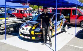 """17-годишният Виторио Попов атакува рали """"България"""" с Renault Clio RS III, колата на Здравко Минев"""
