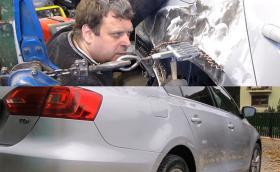 Най-педантичният ремонт на калник на VW Jetta, който някога сме виждали